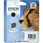 Epson T0711 Bk fekete tintapatron /C13T07114011, C13T07114012/, 7,4 ml | eredeti termék