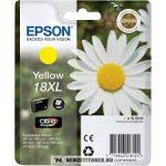 Epson T1814 XL Y sárga tintapatron /C13T18144010/, 6,6 ml | eredeti termék