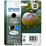 Epson T1291 Bk fekete tintapatron /C13T12914010, C13T12914012/, 11,2 ml | eredeti termék
