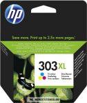 HP T6N03AE színes #No.303XL tintapatron, 10 ml | eredeti termék