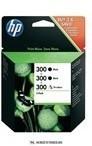 HP SD518AE CC640EE (2db) +CC643EE Bk fekete+színes  #No.300 tintapatron, 2x4 ml + 4 ml | eredeti termék