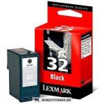 Lexmark 18C0032E Bk fekete #No.32 tintapatron, 13 ml   eredeti termék