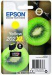 Epson T02H4 Y sárga tintapatron /C13T02H44010, 202XL/, 8,5 ml | eredeti termék
