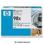 HP 92298X - 98X - fekete toner, 8.800 oldal | eredeti termék