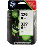 HP C9504EE C8767EE Bk fekete #No.339 DUPLA tintapatron, 2x21 ml | eredeti termék