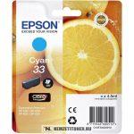 Epson T3342 C ciánkék tintapatron /C13T33424010, 33/, 4,5 ml   eredeti termék