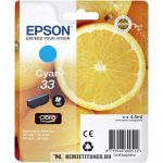 Epson T3342 C ciánkék tintapatron /C13T33424010, 33/, 4,5 ml | eredeti termék
