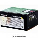 Lexmark C544, X544 Y sárga XXL toner /C544X1YG/, 4.000 oldal | eredeti termék