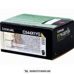Lexmark C544, X544 Y sárga XXL toner /C544X1YG/, 4.000 oldal   eredeti termék