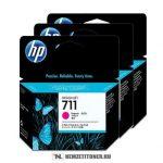 HP CZ135A M magenta 3db #No.711 tintapatron, 3x29 ml | eredeti termék