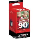 Lexmark 12A1990E fotó színes #No.90 tintapatron, 21 ml | eredeti termék