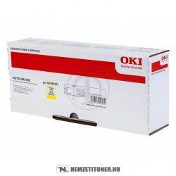 OKI MC770, MC780 Y sárga XL toner /45396201/, 11.500 oldal | eredeti termék