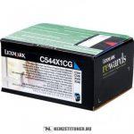 Lexmark C544, X544 C ciánkék XXL toner /C544X1CG/, 4.000 oldal   eredeti termék