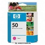 HP 51650ME M magenta #No.50 tintapatron, 42 ml | eredeti termék