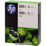 HP D8J44AE színes #No.300XL DUPLA tintapatron, 2x12 ml   eredeti termék