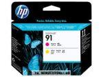HP C9461A M magenta + Y sárga #No.91 nyomtatófej | eredeti termék