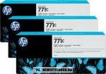 HP B6Y37A PBk fotó fekete 3db #No.771C tintapatron, 3x775 ml | eredeti termék