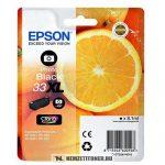 Epson T3361 XL PBk fotó fekete tintapatron /C13T33614010, C13T33614012, 33XL/, 8,1 ml   eredeti termék