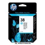 HP C9418A LC világos ciánkék #No.38 tintapatron, 27 ml | eredeti termék