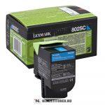 Lexmark CX 310, 410, 510 C ciánkék XL toner /80C2SC0, 802SC/, 2.000 oldal   eredeti termék