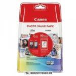 Canon PG-540 Bk fekete + CL-541 színes multipack tintapatron + 10x15 fotópapír /5225B013/   eredeti termék