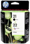 HP SD367AE Bk+C fekete+színes multipack #No.21+22 tintapatron, 2x5 ml | eredeti termék