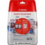 Canon PG-545 Bk fekete + CL-546 színes multipack tintapatron + 10x15 fotópapír /8286B006/, 2x8 ml   eredeti termék