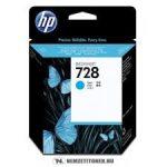 HP F9J63A C ciánkék  #No.728 tintapatron, 40 ml | eredeti termék