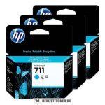 HP CZ134A C ciánkék 3db #No.711 tintapatron, 3x29 ml | eredeti termék