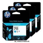 HP CZ134A C ciánkék 3db #No.711 tintapatron, 3x29 ml   eredeti termék