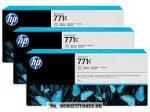 HP B6Y38A LGY világos szürke 3db #No.771C tintapatron, 3x775 ml | eredeti termék