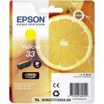 Epson T3344 Y sárga tintapatron /C13T33444010, 33/, 4,5 ml | eredeti termék