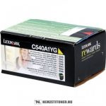 Lexmark C540, C543, C544 Y sárga toner /C540A1YG/, 1.000 oldal | eredeti termék