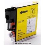 Brother LC-1100 Y sárga tintapatron, (TX), 7,5 ml | utángyártott import termék