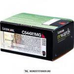 Lexmark C544, X544 M magenta XXL toner /C544X1MG/, 4.000 oldal   eredeti termék