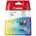 Canon PG-540 Bk fekete + CL-541 színes multipack tintapatron /5225B006/   eredeti termék